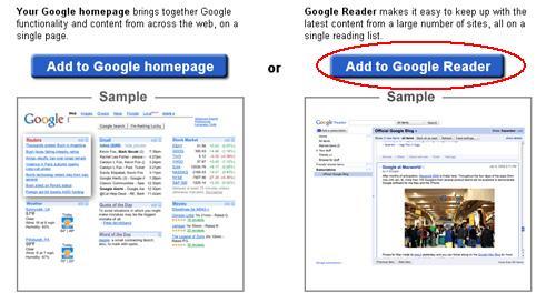"""Επιλέξτε """"Add to Google Reader"""""""