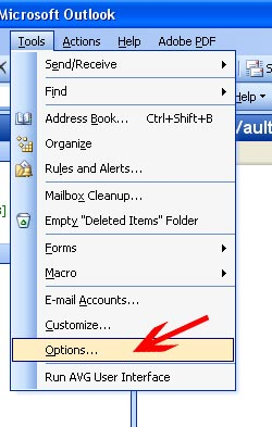 Επιλέξτε από το Menu Tools->Options