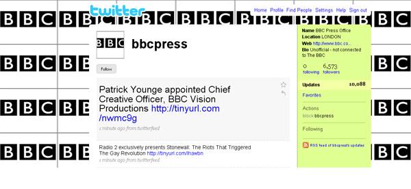 Το BBC στο twitter