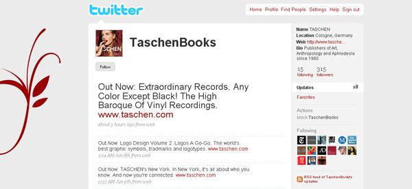 To account της taschen στο twitter