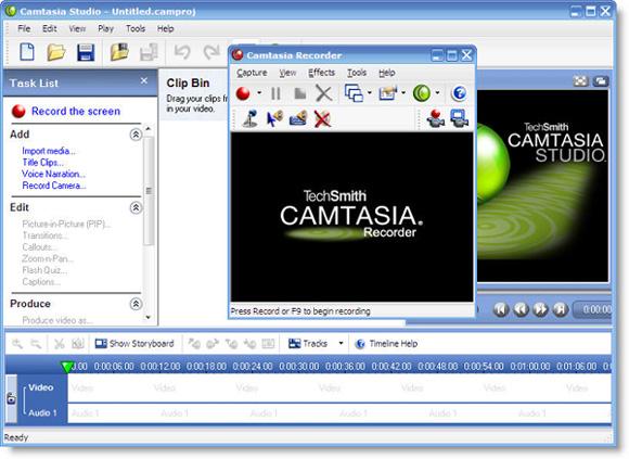Camtasia Studio Screen