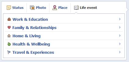 Facebook life event εικ.1